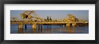 Framed Drawbridge across a river, The Sacramento-San Joaquin River Delta, California, USA
