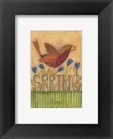 Framed Spring Robin