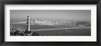 Framed Golden Gate Bridge, San Francisco, California, USA (black & white)