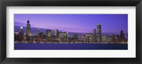 Framed Chicago Skyline with Purple Sky
