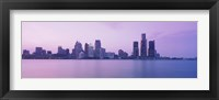 Framed Detroit skyline, Michigan