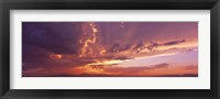 Framed Low angle view of clouds at sunset, Phoenix, Arizona, USA