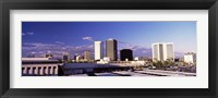 Framed USA, Arizona, Phoenix, Skyline at dawn