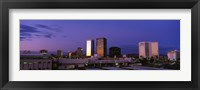 Framed Phoenix Skyline at dusk, Arizona