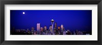 Framed Moonrise, Seattle, Washington State, USA