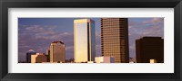 Framed USA, Arizona, Phoenix, Cloudscape over a city