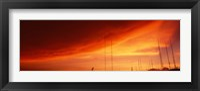Framed Low angle view of antennas, Phoenix, Arizona, USA