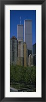 Framed Buildings in a city, World Trade Center, New York City, New York State, USA