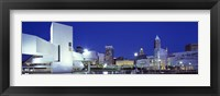 Framed Buildings lit up, Cleveland, Ohio