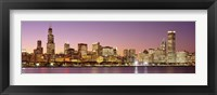 Framed Dusk Skyline Chicago IL USA