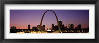 Framed Night view of St Louis MO