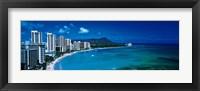 Framed Waikiki Beach Honolulu Oahu HI USA