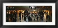 Framed High angle view of a group of people in a station, Grand Central Station, Manhattan, New York City, New York State, USA