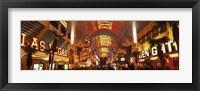 Framed Fremont Street Experience Las Vegas (horizontal)