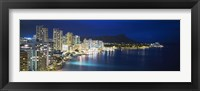 Framed Buildings On The Waterfront, Waikiki, Honolulu, Oahu, Hawaii, USA