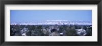 Framed Denver Skyline with Mountains