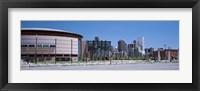 Framed USA, Colorado, Denver, skyline