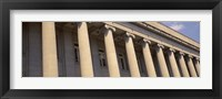 Framed Shelby County Courthouse columns Memphis TN USA
