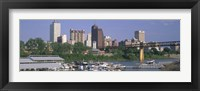 Framed Mud Island Marina Skyline Memphis TN