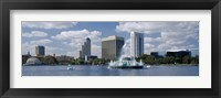 Framed Buildings at the waterfront, Lake Eola, Orlando, Florida, USA