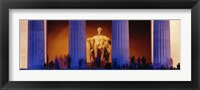 Framed Lincoln Memorial, Washington DC, District Of Columbia, USA