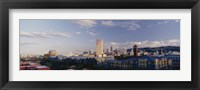 Framed High angle view of buildings in a city, Portland, Oregon, USA