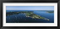 Framed Aerial view of a fortress, Fort Adams, Newport, Rhode Island, USA