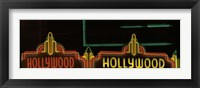 Framed Hollywood Neon Sign Los Angeles CA