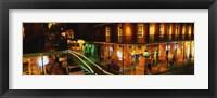 Framed Bourbon Street at night, New Orleans LA