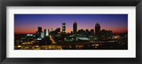 Framed Atlanta skyline at night, GA