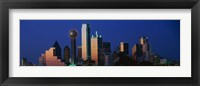 Framed Night, Cityscape, Dallas, Texas