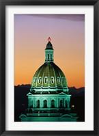 Framed Colorado State Capitol Building Denver CO