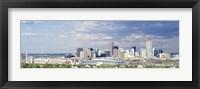 Framed USA, Colorado, Denver, Invesco Stadium, High angle view of the city