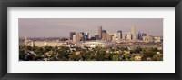 Framed Daytime Photo of the Denver Colorado Skyline