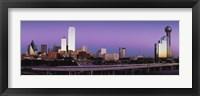 Framed Dallas at Dusk
