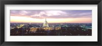 Framed Twilight, Capitol Building, Washington DC, District Of Columbia, USA