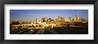 Framed USA, Colorado, Denver, High angle view of parking lot