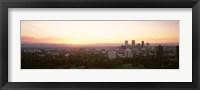 Framed Sunny Sky Behind Denver Colorado