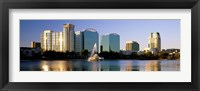 Framed Orlando skyline, Florida