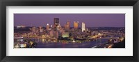 Framed Night view of Pittsburgh