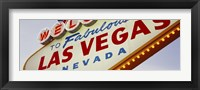 Framed Close-up of a welcome sign, Las Vegas, Nevada