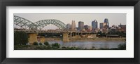 Framed Bridge across the river, Kansas City, Missouri, USA