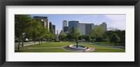 Framed Fountain In A Park, Austin, Texas, USA