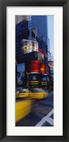 Framed Traffic on a street, Times Square, Manhattan, New York City, New York State, USA