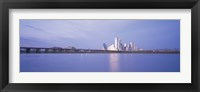 Framed Buildings on the waterfront, Dallas, Texas, USA
