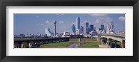 Framed Office Buildings In A City, Dallas, Texas, USA