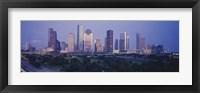 Framed Houston buildings, Texas