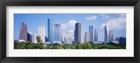 Framed Houston Skyline, Texas