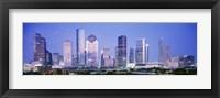 Framed Houston Skyline Lit Up, Texas