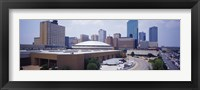Framed High Angle View Of Office Buildings In A City, Dallas, Texas, USA